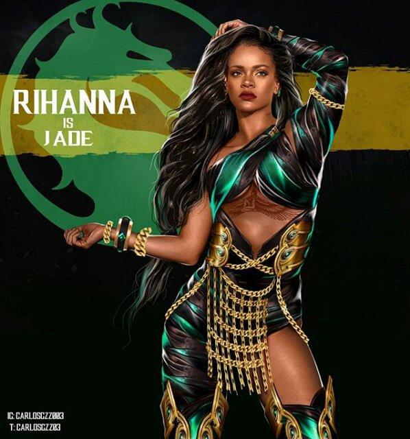Rihanna como Jade ilustrada por Carlos Gonzalez
