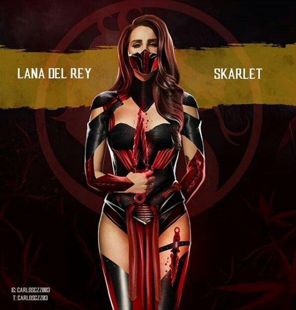 Lada Del Rey como Skarlet ilustrada por Carlos Gonzalez