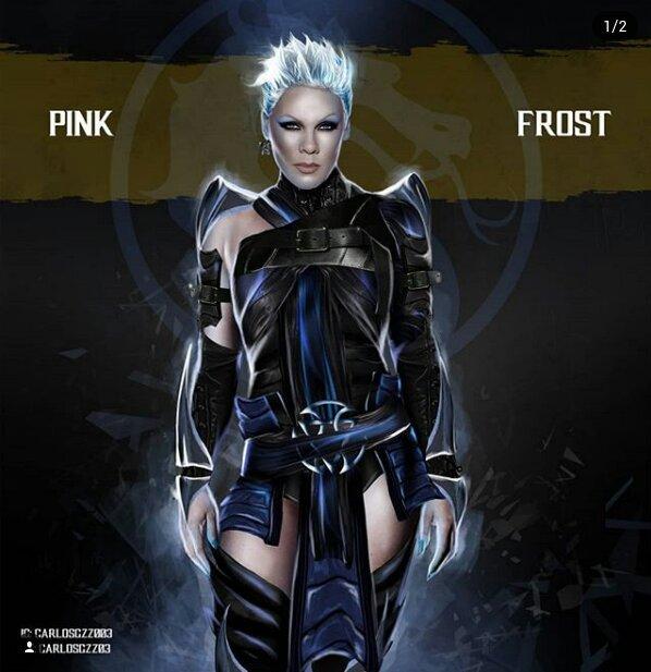 P!nk como Frost ilustrada por Carlos Gonzalez