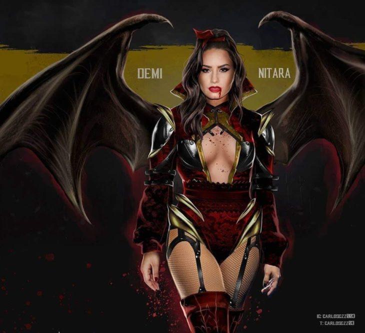 Demi Lovato como Mitara ilustrada por Carlos Gonzalez