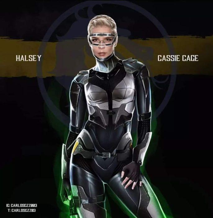 Halsey como Cassie Cage ilustrada por Carlos Gonzalez