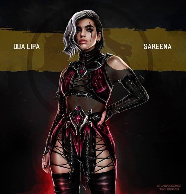 Dua Lipa como Sareena ilustrada por Carlos Gonzalez