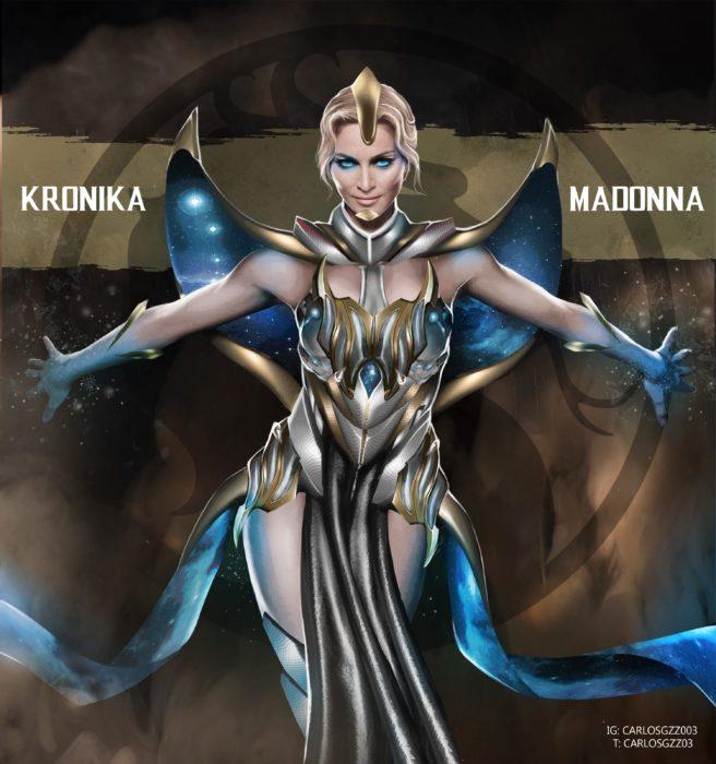 Madonna como Kronika ilustrada por Carlos Gonzalez
