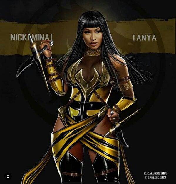 Nicki Minaj como Tanya ilustrada por Carlos Gonzalez