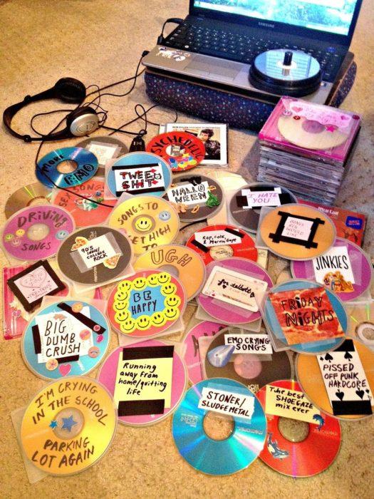 CD's con anotaciones