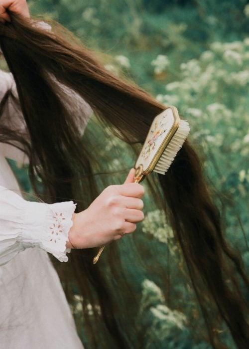 Cepillar cabello para eliminar nudos y frizz
