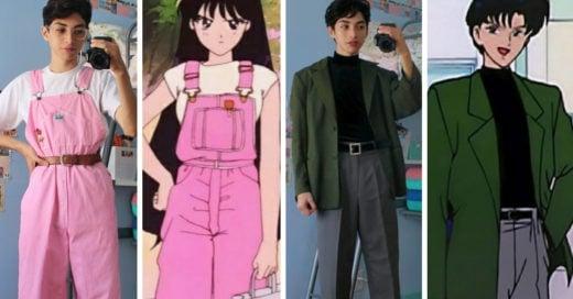 Chico recrea los looks vintage de las Sailor Scouts; ¡es todo un guerrero lunar!