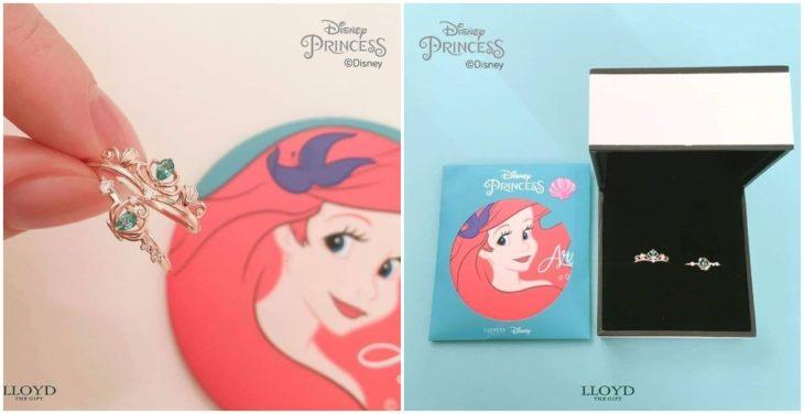 Anillo de colección inspirado en Ariel,Disney