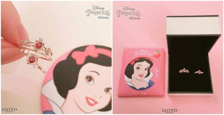 Anillo de colección inspirado en Blancanieves, Disney