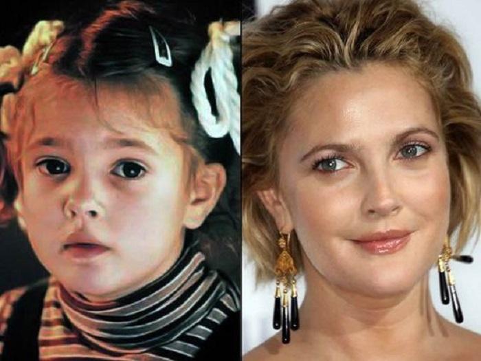 Drew Barrymore antes y después