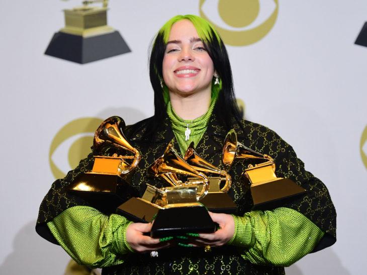 Mejores momentos de los Grammy 2020; Billie Eilish gana 5 premios y rompe récord; cabello verde
