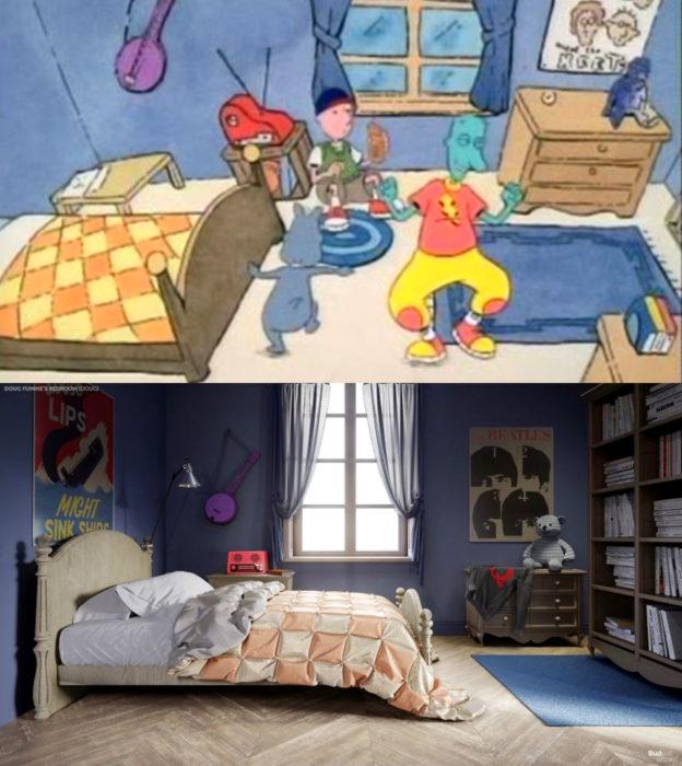 Así lucirían en la vida real las habitaciones más famosas de las caricaturas que amamos; Doug