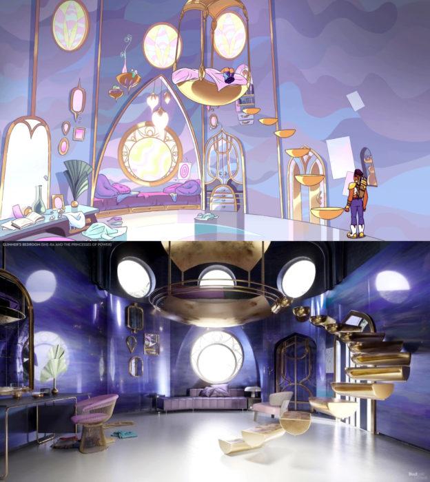 Así lucirían en la vida real las habitaciones más famosas de las caricaturas que amamos; Glimmer, She-Ra y las princesas del poder