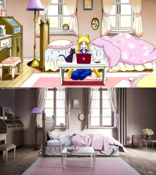 Así lucirían en la vida real las habitaciones más famosas de las caricaturas que amamos; Serena Tsukino; Sailor Moon