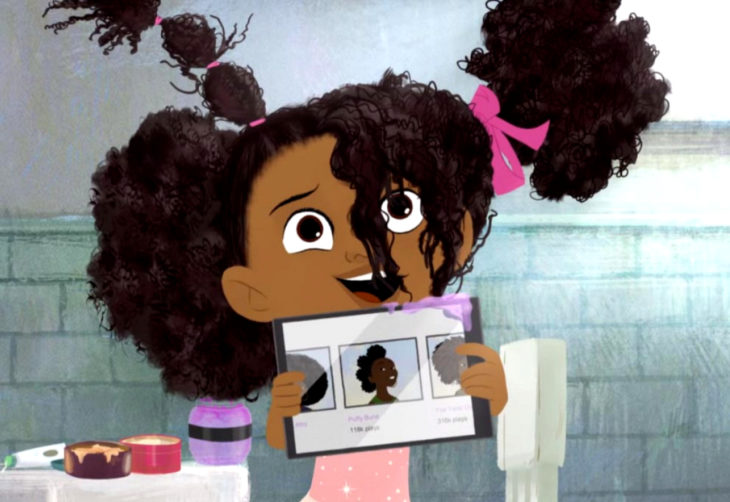 Hair Love, el cortometraje de un padre que aprende a peinar el cabello de su hija afroamericana