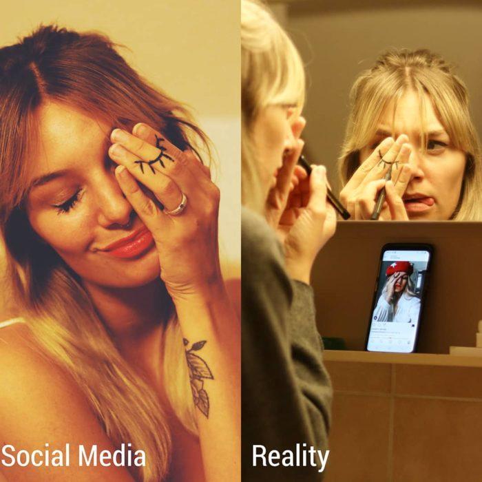 Influencer Kim Britt muestra la verdad detrás de las fotografías perfectas de Instagram; expectativa vs. realidad