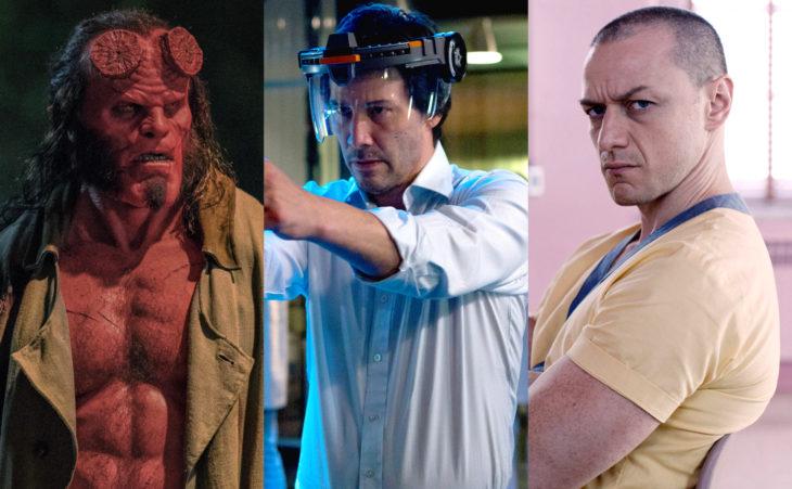 Keanu Reeves es nominado a Peor Actor en los premios Razzie por Réplicas; James McAvoy, Glass, David Harbour, Hellboy