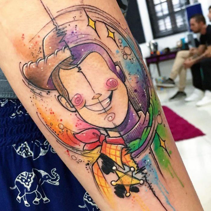 Tatuaje doble de Buzz y Woody, Toy Story, Disney