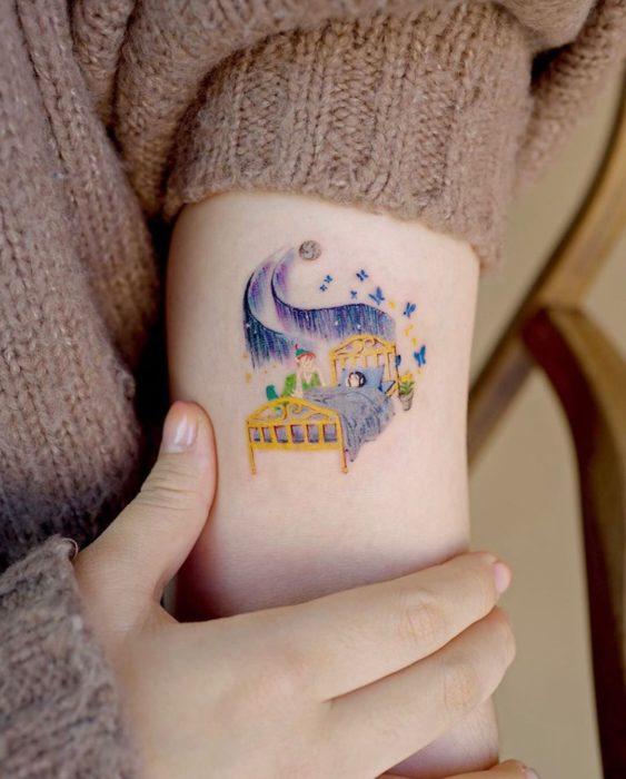 Tatuaje de Peter Pan y Campanita, Peter Pan, Disney