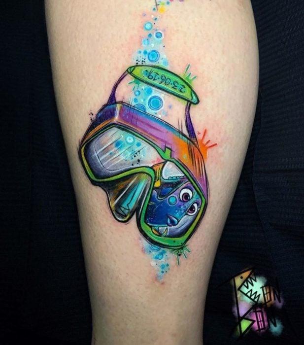 Tatuaje inspirado en Dory, Buscando a Nemo, Disney