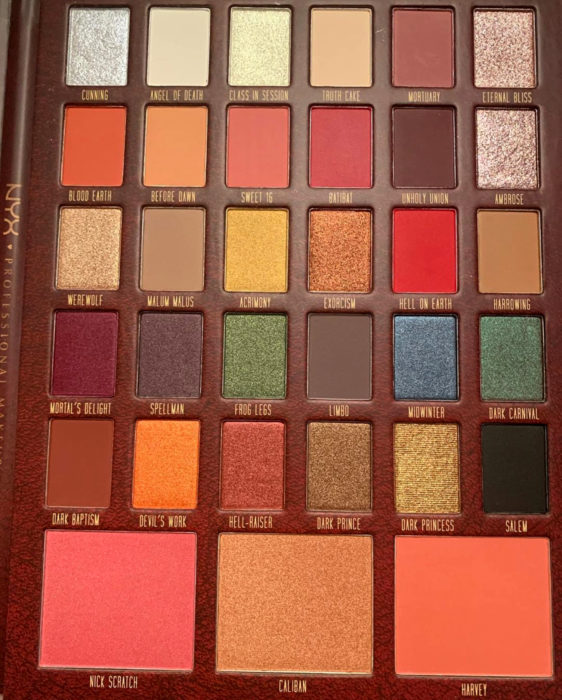 NYX saca una línea de maquillaje inspirada en El Mundo Oculto de Sabrina; paleta de sombras