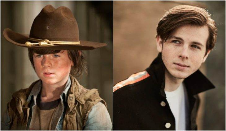 Chandler Riggs de niño en la serie The Walking Dead