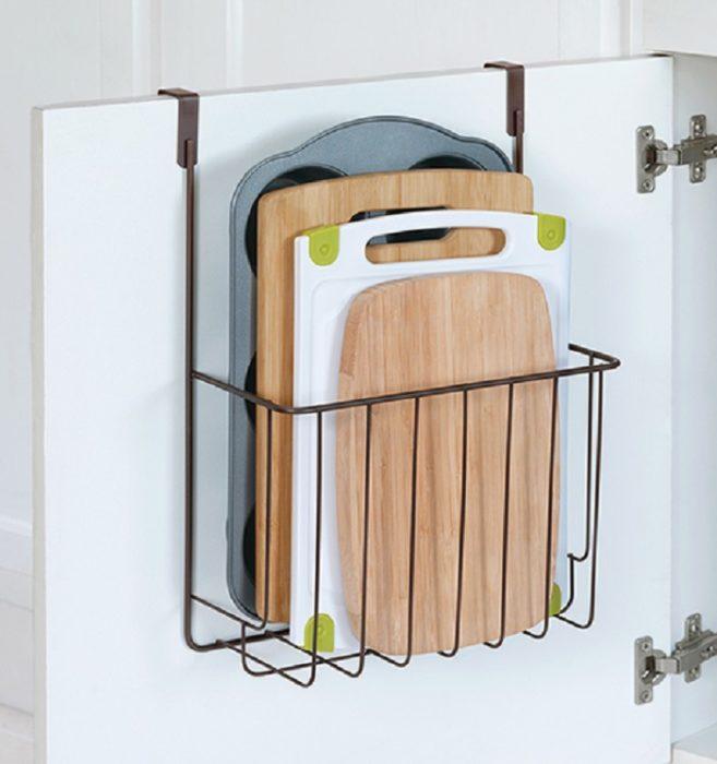 Organizador de tablas de cocina, estilo de rejilla