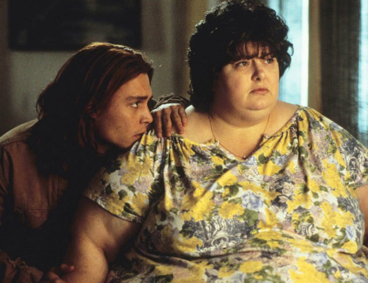 Johnny Depp, Darlene Cates, Gilbert y Bonnie Grape en ¿A quién ama Gilbert Grape?