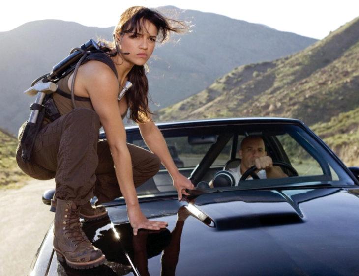 Vin Diesel, Michelle Rodriguez, Letty Ortiz y Dominic Toretto en Rápidos y Furiosos