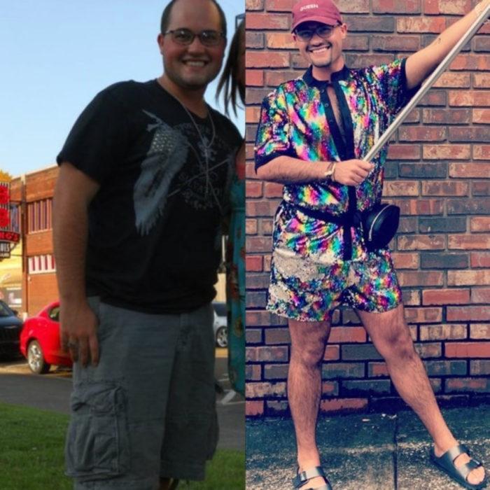 El antes y después de personas que perdieron peso