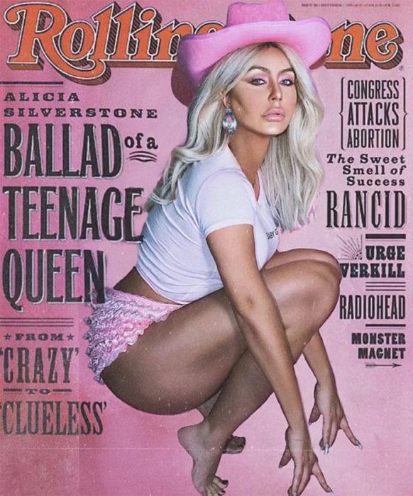 Lady gaga en la portada de Rolling Stone con dos brazos derechos
