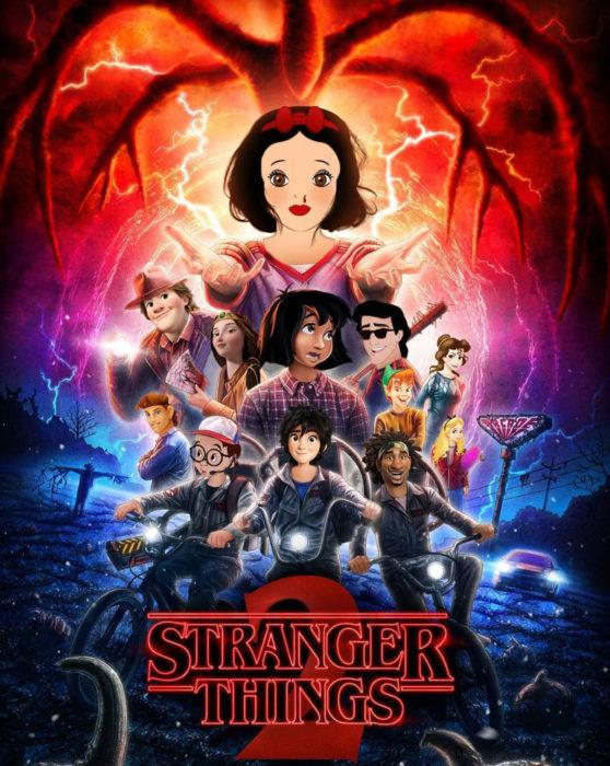 Gregory Masouras dibujó a las princesas Disney en películas y series; Stranger things, Blancanieves, Eric, Bella, Hércules, El libro de la selva