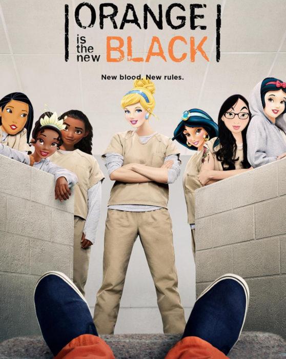 Gregory Masouras dibujó a las princesas Disney en películas y series; Orange is the new black; Cenicienta, Pocahontas, Tiana, Moana, Mulán, Blancanieves y Jasmín