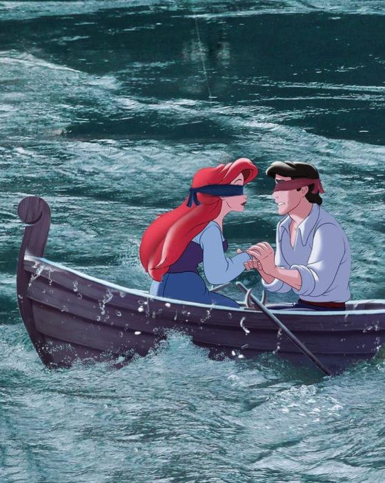 Gregory Masouras dibujó a las princesas Disney en películas y series; La sirenita, Ariel y Eric en Bird box