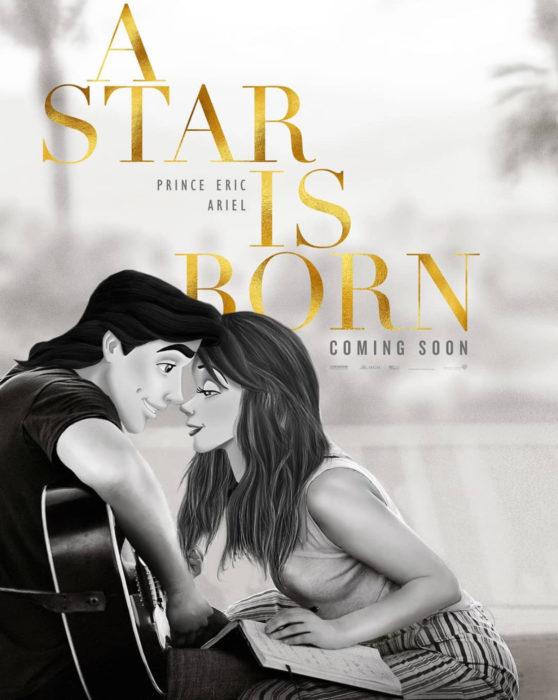 Gregory Masouras dibujó a las princesas Disney en películas y series; La Sirenita, Ariel y Eric, A star is born, Ha nacido una estrella