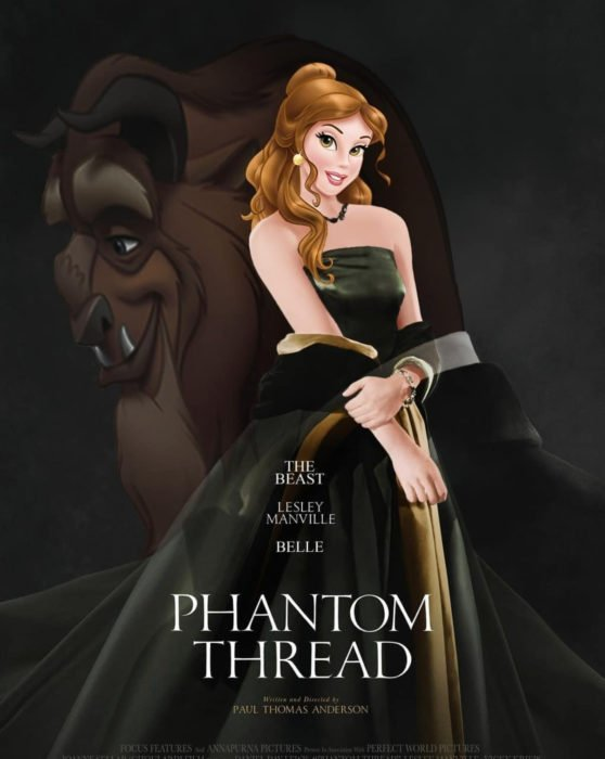 Gregory Masouras dibujó a las princesas Disney en películas y series; La Bella y la Bestia; Phantom thread