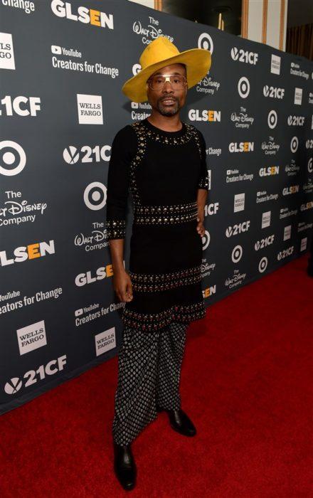 Billy Porter Túnica negra y pantalones holgados GLSEN Respect Awards 2018