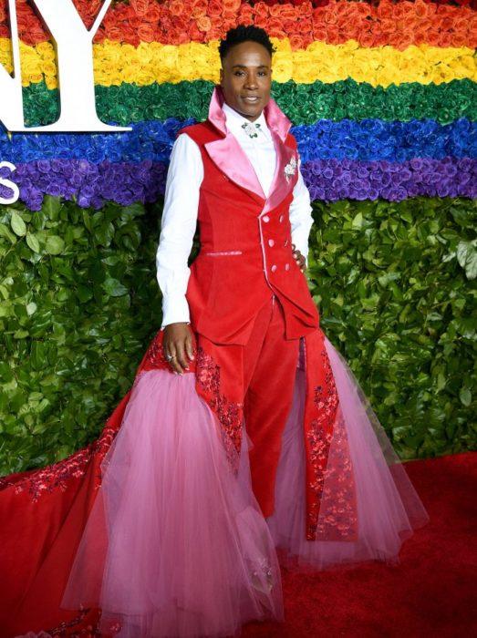 Billy Porter look traje rosa con faldón de tul Tony Awards 2019