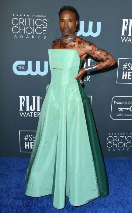 Billy Porter look vestido verde menta Critic's Choice Awards 2020