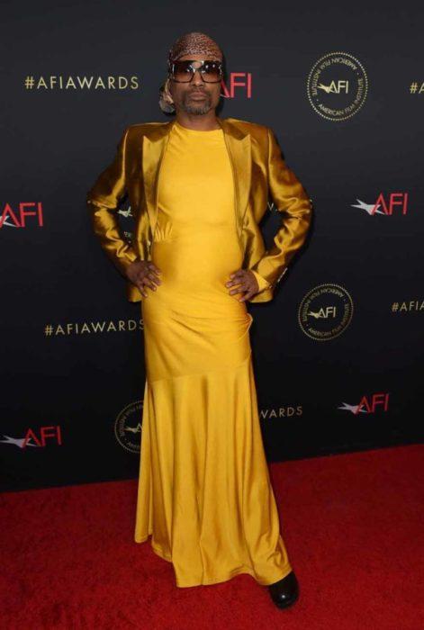 Billy Porter look en amarillo 2019 AFI Awards