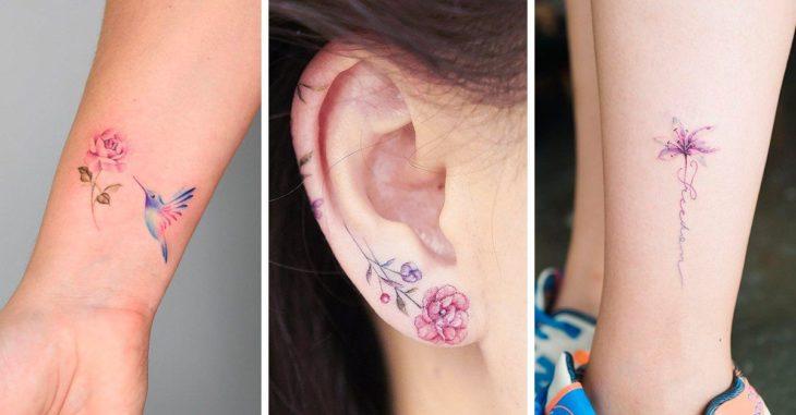 Tatuajes con flores pequeñas
