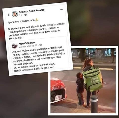 Repartidora de Uber lleva a su sobrino con ella al trabajo se vuelve viral
