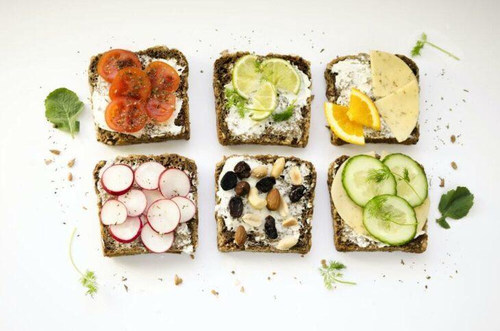 tostadas de pan integral saludables