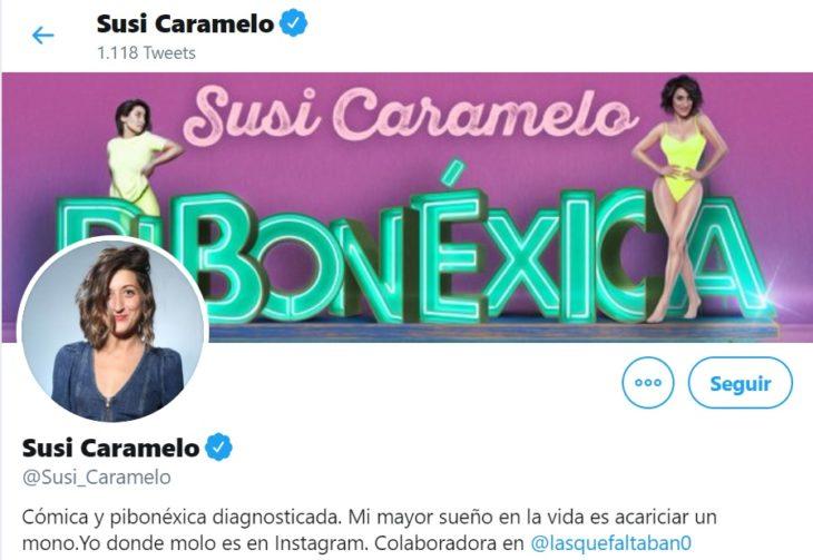 Perfil de Twitter de standupera española