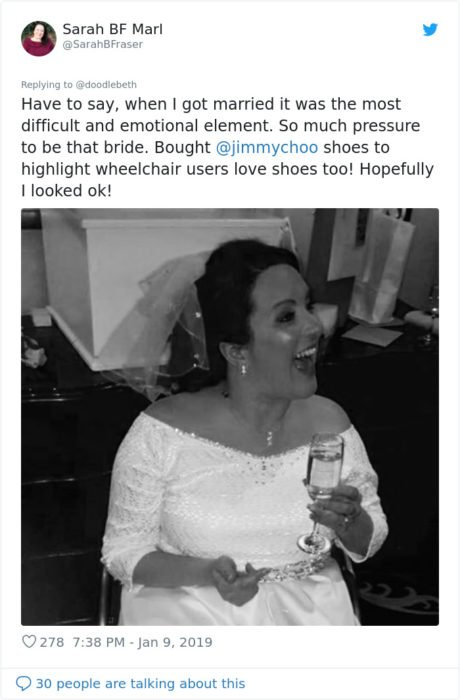 Comentarios en twitter sobre mujeres que se casan en silla de ruedas