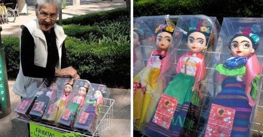 Abuelita vende mini Fridas, muñecas inspiradas en Frida Kahlo