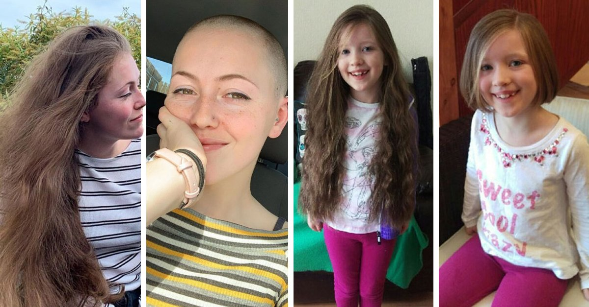 17 Personas antes y después de donar su cabellera a una noble causa