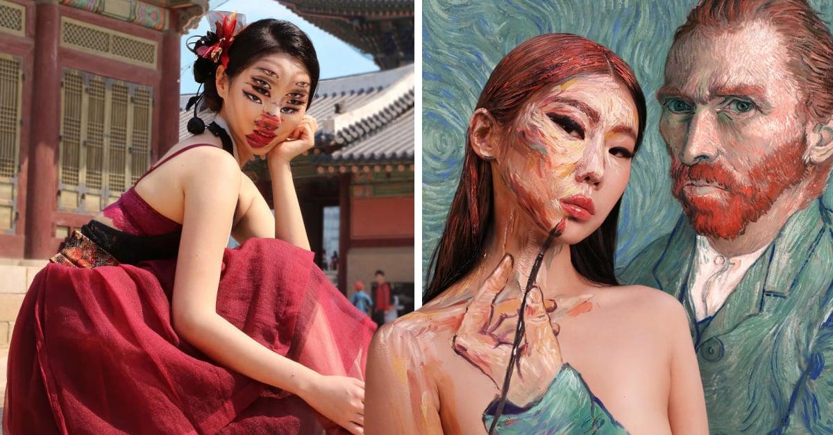 Artista rompe la línea entre realidad e ilusión con sus increíbles maquillajes