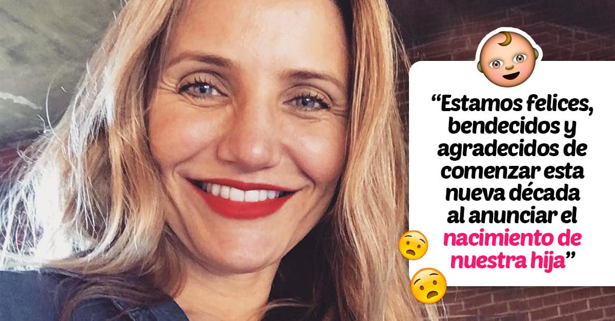 No es simulacro: ¡Cameron Diaz se convirtió en mamá!
