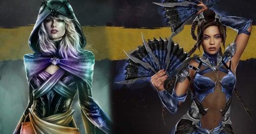 Artista convierte a celebridades en personajes de Mortal Kombat